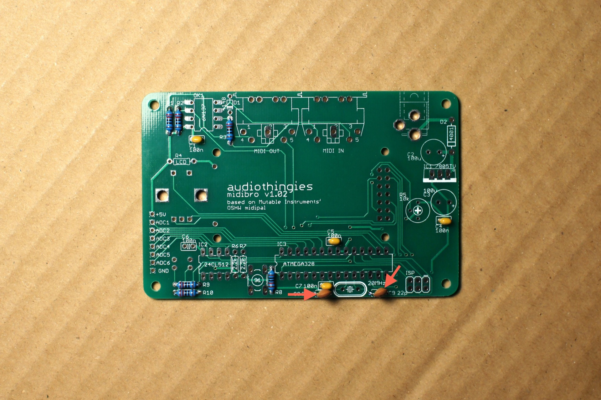 midibro soldering guide audiothingiesNeed To Desolder D1 And D2 In Order To Properly Identify These #12